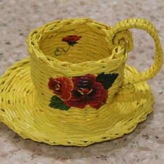 Декоративная чашка - конфетница