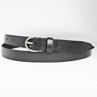 Classic20b9 женский кожаный черный узкий ремень пояс натуральная кожа кожанный
