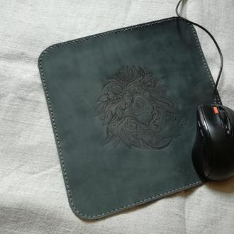 Коврик для мыши Аксессуар для компьютера Кожанные изделия Шкіряні вироби Подарунки зі шкіри Подарки