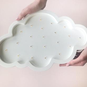 Деревянный ночник на аккумуляторе Облачко ручной работы Облако