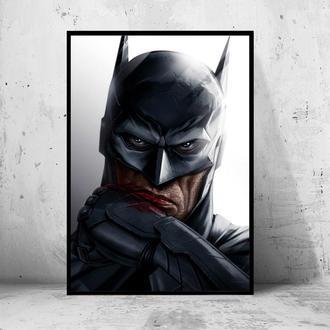 "Постер на ПВХ 3 мм. в рамке ""Batman Evil Look"" (Бэтмен)"