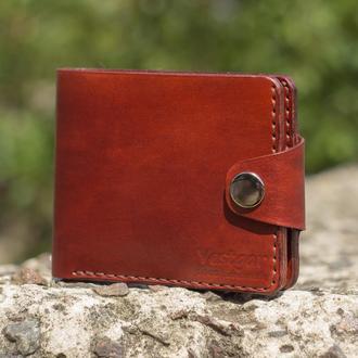 Мужской бумажник из кожи растительного дубления