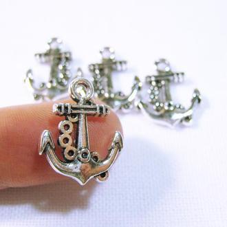 Морской Якорь металлическая подвеска для украшений