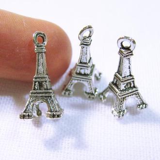 Подвеска Эйфелева башня металлическая фурнитура серебристая