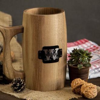 Подарок Сувенир Деревянный С Эмблемой Декоративный Кухонный Пивной Бокал Для Отца Друга Брата