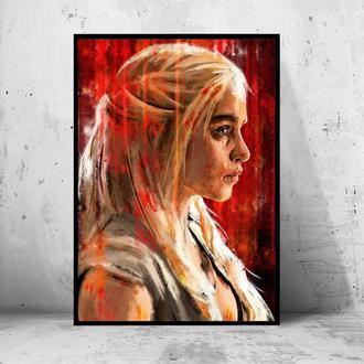 "Постер на ПВХ 3 мм. в рамке ""Game of the Thrones: Daenerys"" (Игры Престолов Дейенерис)"