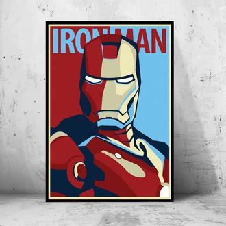 """Постер на ПВХ 3 мм. в рамке """"Iron Man: Tony Stark"""" (Железный Человек: Тони Старк)"""