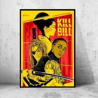 """Постер на ПВХ 3 мм. в рамке """"Kill Bill"""" (Убить Била)"""