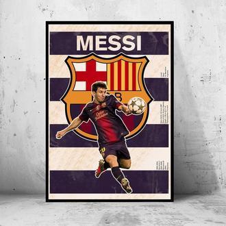 """Постер на ПВХ 3 мм. в рамке """"Messi"""" (Месси)"""