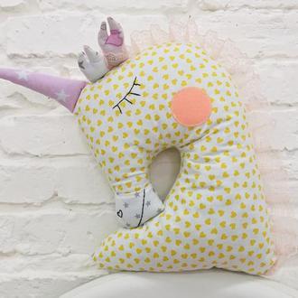 единорог подарки для детей подушка для сна мягкая желтая игрушка подарок на день рожденья девочки