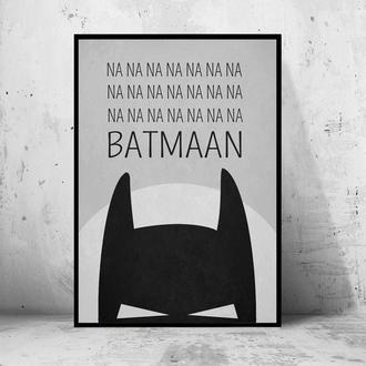 "Постер на ПВХ 3 мм. в рамке ""Batman: NA NA NA NA NA"" (Бэтмен)"