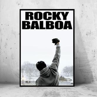 "Постер на ПВХ 3 мм. в рамке ""Rocky Balboa"" (Рокки Бальбоа)"