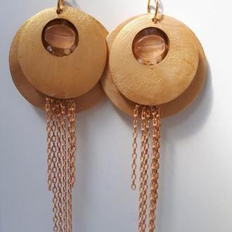 Сережки у бохо-стилі