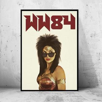 """Постер на ПВХ 3 мм. в рамке """"Wonder Woman 84"""" (Чудо-Женщина)"""