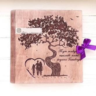 Семейный фотоальбом из дерева