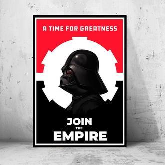 "Постер на ПВХ 3 мм. в рамке ""Star Wars Darth Vader: Join the Empire"" (Звездные Войны Дарт Вейдер)"