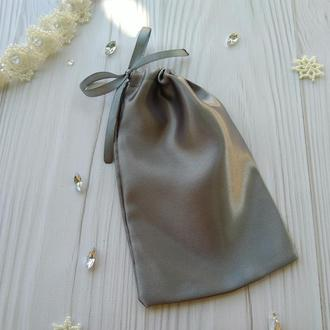Атласный подарочный мешочек для упаковки 10 х 16 см. (тканевая упаковка, атласные мешочки)
