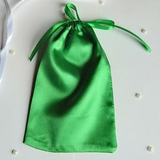 Упаковочный мешочек из атласа 10 х 16 см. (тканевая упаковка, атласные мешочки, подарочная упаковка)