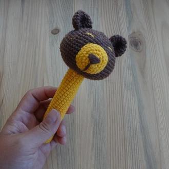 Погремушка  - прорезыватель медведь игрушки для младенцев