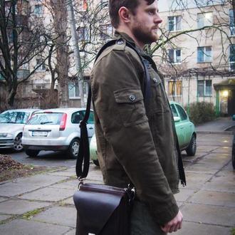 Мужская сумка на пояс, купить кожаную сумку, сумка из кожи