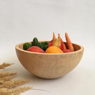 Миска з дерева, дерев'яний посуд
