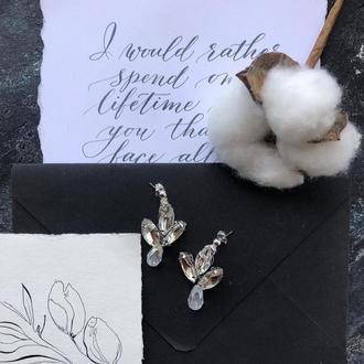 Свадебные серьги серьги для невесты