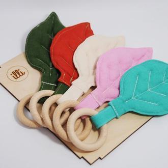 Эко прорезыватель для малышей Органические грызунки для детей Деревянный грызунок Прорезыватель