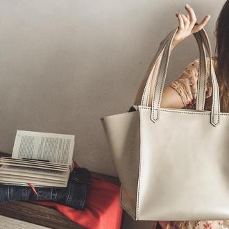 ORSI-Кожаная женская сумка ШОППЕР, шкіряна сумка велика