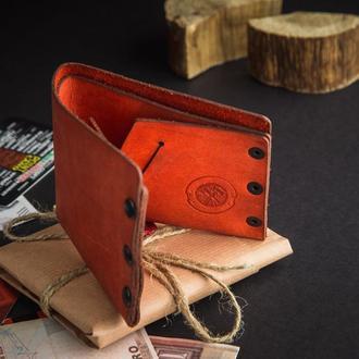 Красный кожаный кошелек OSCAR