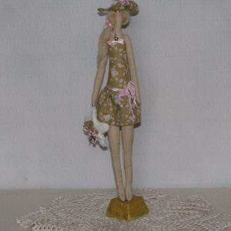 Кукла тильда Пляжница, кукла ручной работы, кукла тильда, тильда