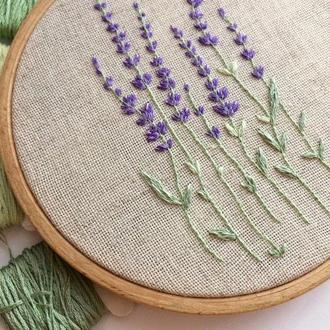 Lavender Embroidery Hoop | Вышивка Лаванда