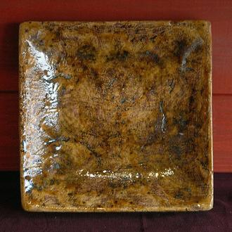 Тарелка квадратная лепленная
