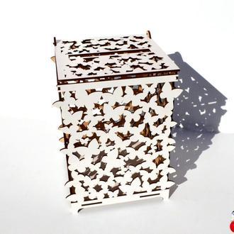 Свадебные аксессуары Свадебная казна для денег деревянная коробка сундук копилка на свадьбу лдвп