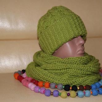 Объемная шапка  (можно со снудом)