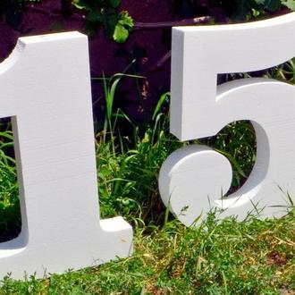 Цифры Буквы из Пенопласта 96 см Объемные Большие Декоративные Декорации на торжество слова на свадьб