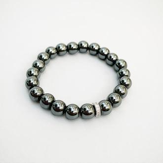 Браслет из гематита  (модель № 527) JK jewelry