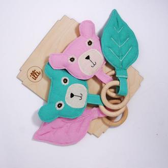 Эко набор для двойняшек Детские прорезыватели Грызунки для детей Подарок двойняшкам