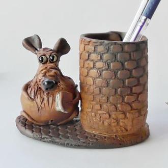 Карандашница с крысой подарок сувенир