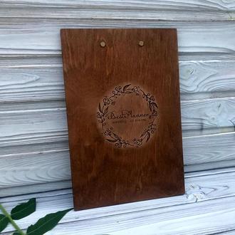 Деревянная Папка-планшет с металлическим зажимом