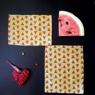 Восковые салфетки для хранения продуктов, waxwraps