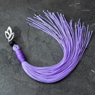 Фиолетовая моносерьга-кисть
