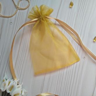 Подарочный мешочек из органзы 10 х 15 (Мешочек для упаковки подарка, подарочная упаковка)