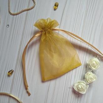 Подарочный мешочек из органзы 8 х 11 (Мешочек для упаковки подарка, подарочная упаковка)