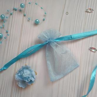 Подарочный мешочек из органзы 6 х 8 см(Мешочек для упаковки подарка, подарочная упаковка)
