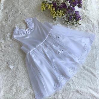 Эксклюзивное белое платье, платьице для крещения или торжества