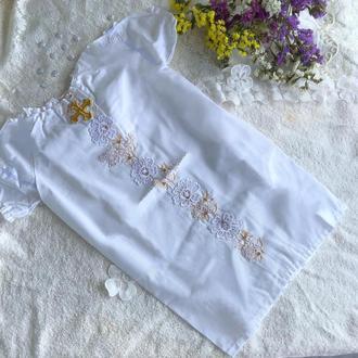 Длинная рубашка для крещения из хлопка