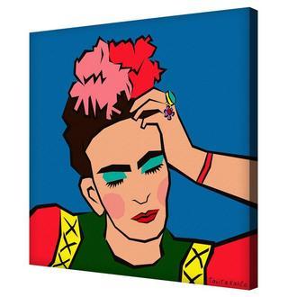 Задумчивая Фрида картина Таниты Кало напечатанная на холсте