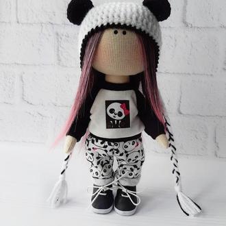 Текстильная кукла Панда