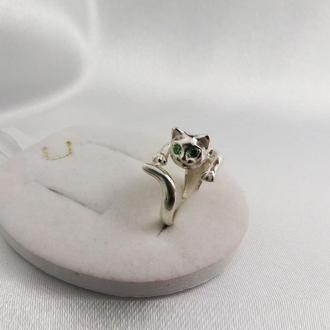 Кольцо в виде кошки