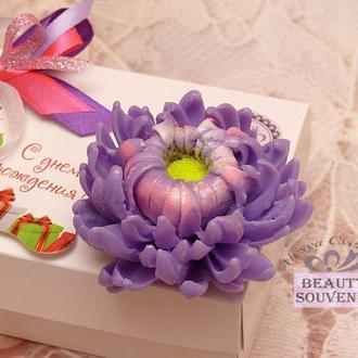Мыло Хризантема, цветы, на 8 Марта